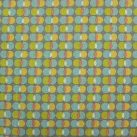 Cotton fabric Pozzi - multi x 10cm