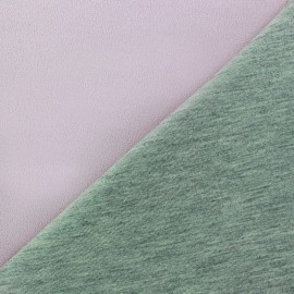 ♥ Coupon 200 cm X 140 cm ♥ Tissu double jersey - rose brume/gris
