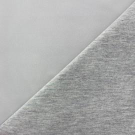 Tissu double jersey - écru/gris x 10cm