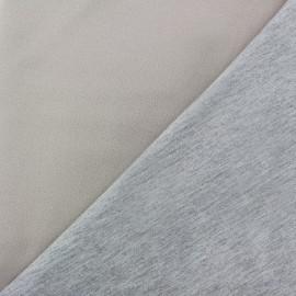 Tissu double jersey - beige clair/gris x 10cm