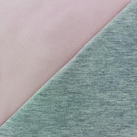 Double jersey fabric - pink lozenge/grey x 10cm
