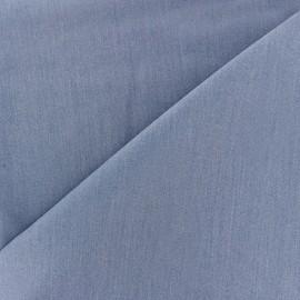 Tissu Gabardine Lycra légère - bleu denim x 10cm