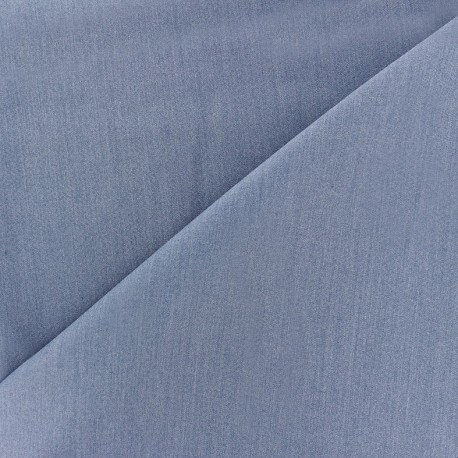 Light Lycra Gabardine Fabric - blue denim x 10cm