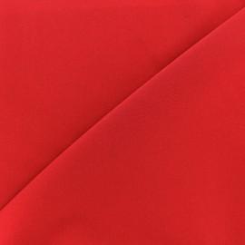 ♥ Coupon 80 cm X 140 cm ♥ Tissu Gabardine Lycra légère - rouge