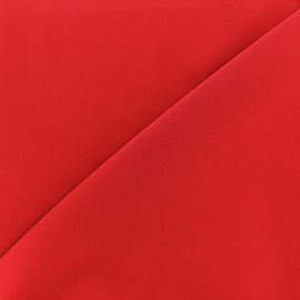 Tissu Gabardine Lycra légère - rouge x 10cm