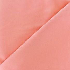 ♥ Coupon 50 cm X 140 cm ♥ Tissu Gabardine Lycra légère - corail