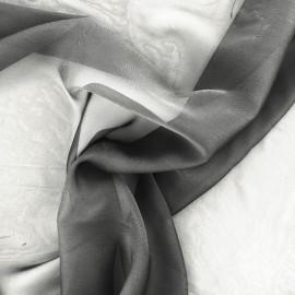 Tissu mousseline touché soie - noir x 50cm