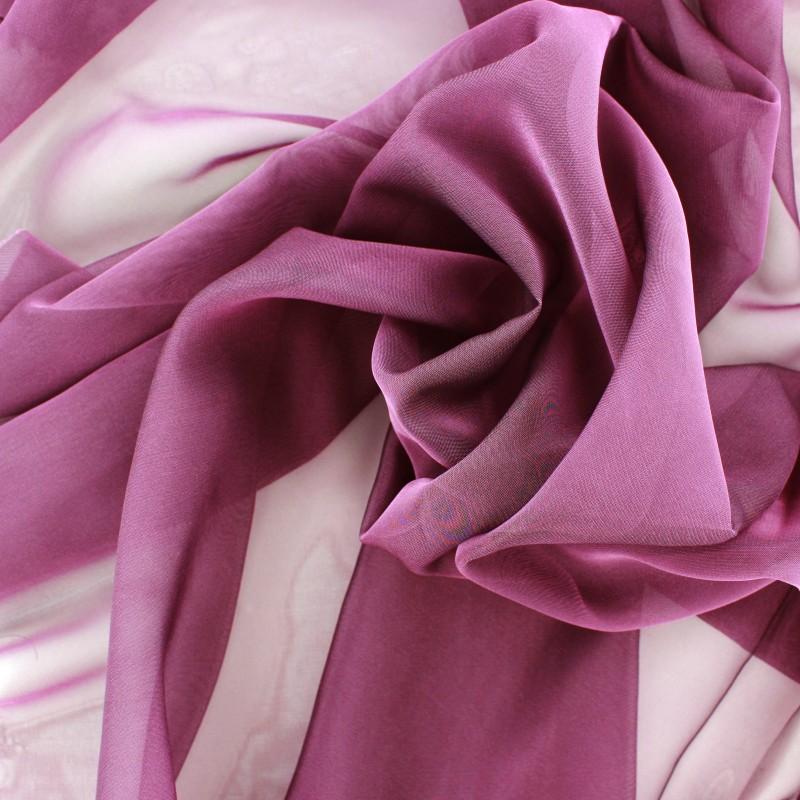 Célèbre Tissu mousseline touché soie - prune x 50cm - Ma Petite Mercerie ZG53