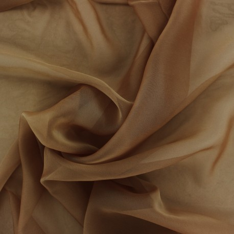 Silky Muslin Fabric - brown x 50cm