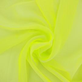 Tissu mousseline touché soie - anis x 50cm