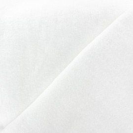 Tissu Oeko-Tex molleton Dourêve blanc x10cm