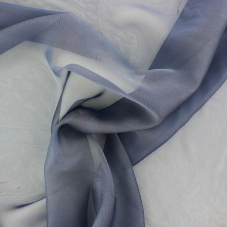 Tissu mousseline touché soie - marine x 50cm