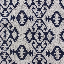 Sweat fabric bouclette Aztec - ecru x 10cm