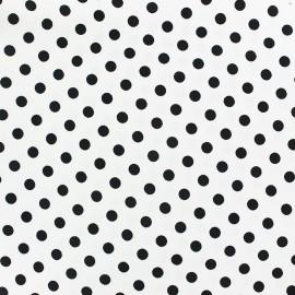 Tissu coton pois 8mm - noir/blanc x 10cm