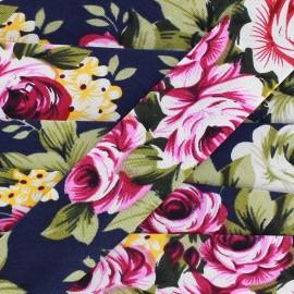 Biais Blossom - marine x 1m