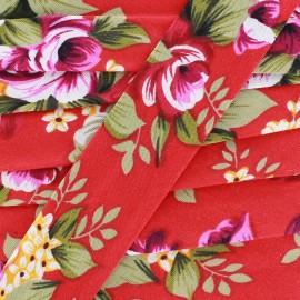 Biais Blossom - rouge x 1m