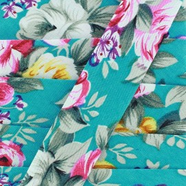 Biais Blossom - turquoise x 1m