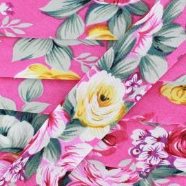 Biais Blossom - fuchsia x 1m