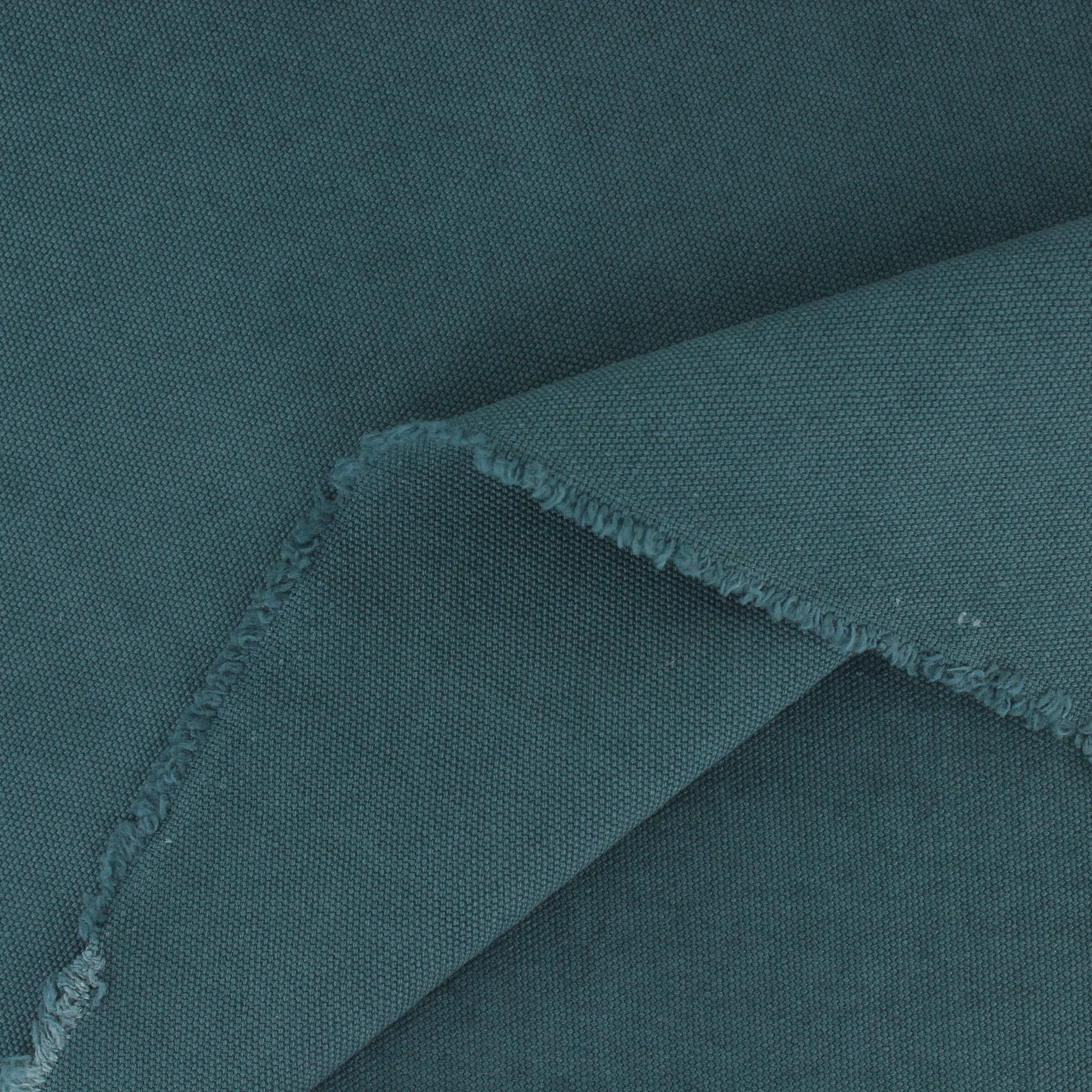 toile coton délavé vintage - bleu canard x 10cm - ma petite mercerie