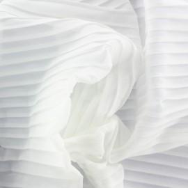 Light pleated crepe Fabric - ecru x 50cm