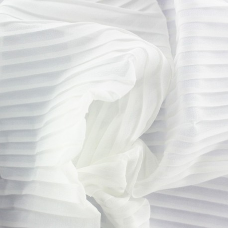 Tissu crêpe léger plissé - écru x 50cm
