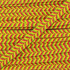 Galon Chevron Multi - jaune/fuchsia x 8mm