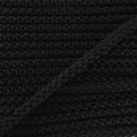 Knitted cord 4,5 mm - black x 1m