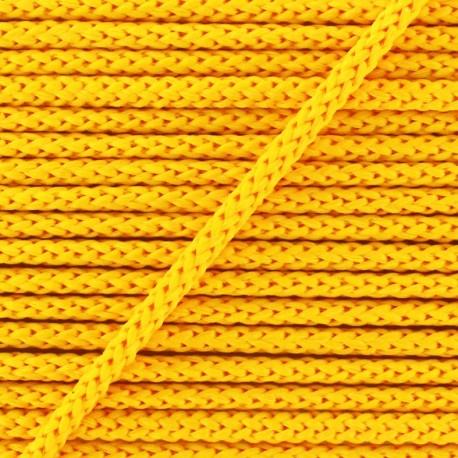 Cordon tricoté 4,5 mm - soleil x 1m