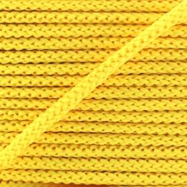 Cordon tricoté 4,5 mm - jaune blé x 1m