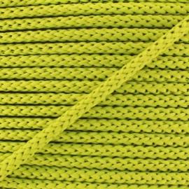 Cordon tricoté 4,5 mm - anis x 1m