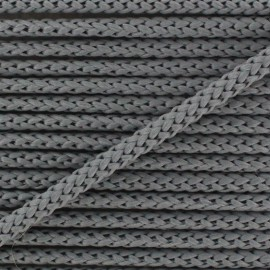 Knitted cord 4,5 mm - grey x 1m
