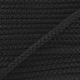 Cordon tricoté 4,5 mm - anthracite x 1m