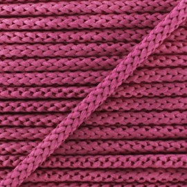 Knitted cord 4,5 mm - old pink x 1m