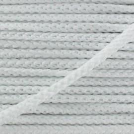 Cordon tricoté 4,5 mm - blanc x 1m