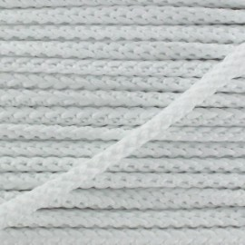 Knitted cord 4,5 mm - white x 1m