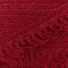 Fringe lace Bohème - bordeaux x 1m