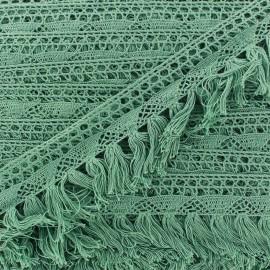 Fringe lace Bohème - green sage x 1m