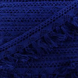 Franges dentelle Bohème - bleu marine x 1m