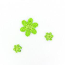 Thermocollant Brodé Fleurs (x3) - vert