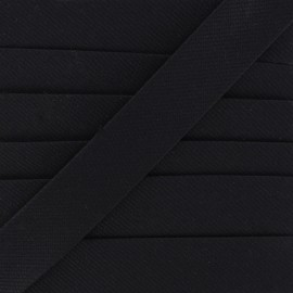Plain stitched Bias binding - black