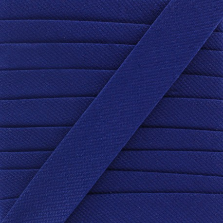 Plain stitched Bias binding - blue