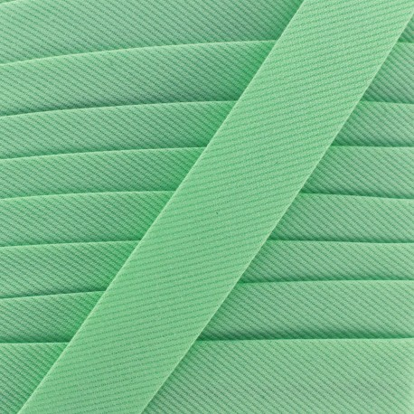 Plain stitched Bias binding - green light