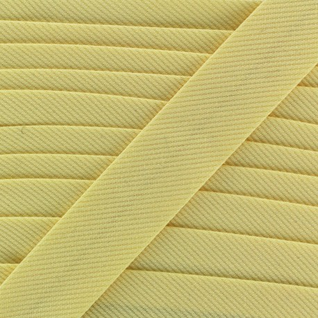 Biais Piqué uni - jaune clair