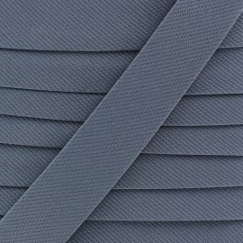 Plain stitched Bias binding - grey blue