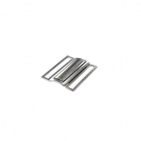 Boucle de ceinture Métal 50mm - vieil argent