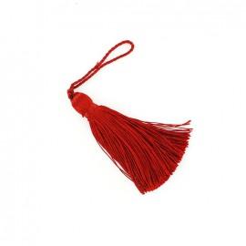 Pompon brillant 85 mm - rouge