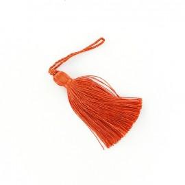 Pompon brillant 85 mm - orange