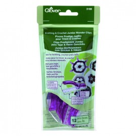 1 set of 12 wonder clips Prodiges Jumbo - purple