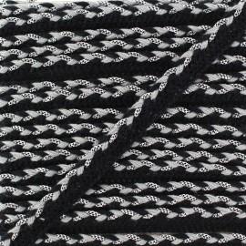 Passepoil tressé lurex - black x 1m