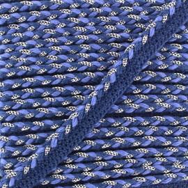Passepoil tressé lurex - bleu marine x 1m